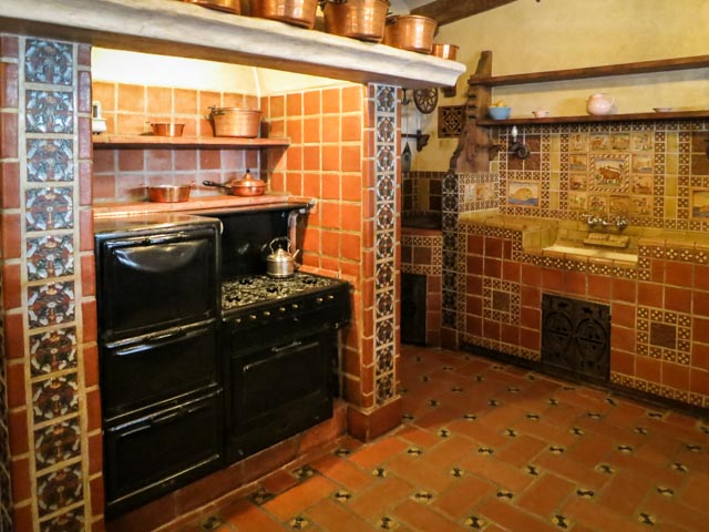 The kitchen had a lot of character too